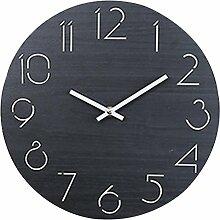 Wanduhr Vintage, Likeluk 12 Zoll(30cm) Wanduhr Lautlos Holz Uhr Uhren Wall Clock ohne Tickgeräusche