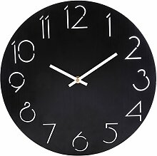 Wanduhr Vintage, Likeluk 12 Zoll(30cm) Wanduhr Lautlos Uhr Uhren Wall Clock ohne Tickgeräusche
