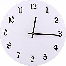 Wanduhr Vintage, Likeluk 30cm Lautlos Vintage Wanduhr Uhr Uhren Wall Clock ohne Tickgeräusche
