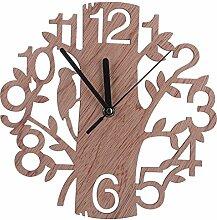 Wanduhr Vintage, Likeluk Holz Uhr Uhren Wall Clock , 22×22×4,5cm