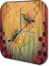 Wanduhr Vogel Wellensittich Acryl Deko Wand Uhr Vintage