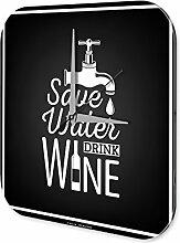 Wanduhr Wasser sparen Wein Bar Kneipe Restaurant Deko Acryl Uhr