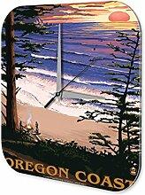 Wanduhr Welt Reise Oregon Wand Deko Uhr Vintage