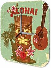 Wanduhr Weltenbummler Hawaii Aloha Acryl Dekouhr Nostalgie