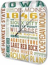 Wanduhr Weltenbummler Iowa Des Moines Acryl Dekouhr Nostalgie