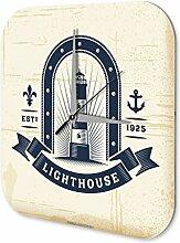 Wanduhr Weltenbummler Leuchtturm Dekouhr Vintage Retro