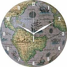Wanduhr Weltkugel Globus antik
