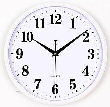 Wanduhr Wohnzimmer home Mute elektronische Quarzuhr Rundschreiben kreative einfache Uhr, 4.
