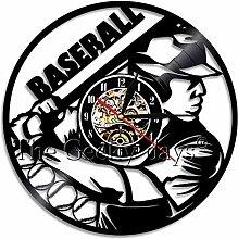 Wanduhren 1 Stück Baseball Schallplatte Kreative