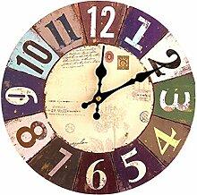 Wanduhren Lautlos, Likeluk 12zoll (30cm) Vintage Wanduhr Holz Uhr Uhren Wall Clock ohne Tickgeräusche