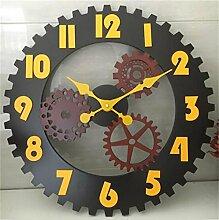 Wanduhren Retro Industrie Wind Getriebe Wanduhr Kreative Bar Cafe Antike Wanduhr Wand Dekoration Uhr Uhr