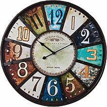 Wanduhren Vintage, Likeluk 22 Zoll(48cm) Holz Lautlos Vintage Wanduhr Uhr Uhren Wanduhr Geräuschlos
