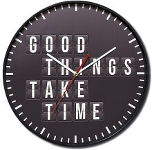 Wanduhren - Wanduhr Baltimore - Good things take Time