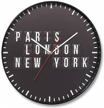 Wanduhren - Wanduhr Baltimore - Paris, London, New York