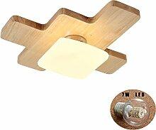 Wandun LED Holz Deckenleuchte nordische einfache