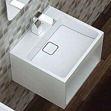 Wandwaschbecken Waschbecken BS453 aus Mineralguss