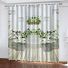 wangcheng1 Einfache Rose-Vorhang Blickdicht