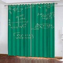 wangcheng1 Grün-Vorhang Blickdicht Kinderzimmer