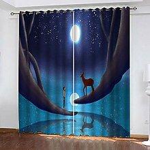 wangcheng1 Junge Kitz-Vorhang Blickdicht