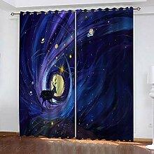 wangcheng1 Kitz-Vorhang Blickdicht Kinderzimmer