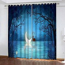 wangcheng1 Mondhirsch-Vorhang Blickdicht