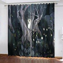 wangcheng1 Nachtwälder-Vorhang Blickdicht