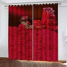 wangcheng1 rot-Vorhang Blickdicht Kinderzimmer