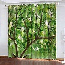 wangcheng1 Wald-Vorhang Blickdicht Kinderzimmer