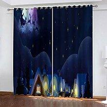 wangcheng1 Weihnachtshaus-Vorhang Blickdicht