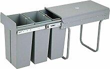 Wangkangyi 3x10L Einbau Abfallsammler Küche