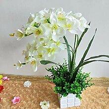 WANGLETA Künstliche Blumen die Orchid Silk Blume