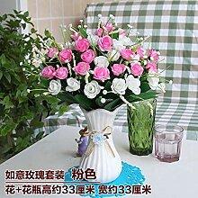 WANGLETA Künstliche Blumen die Rose Silk Flower