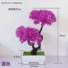 WANGLETA Künstliche Blumen Pflanzen Zubehör lila