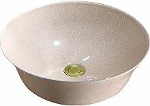 WangQ Badezimmer-Waschbecken, Keramikgegenbassin