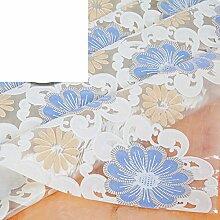 WANGS PVC-Tischdecke für Tischdecke, Wasserfest, oil-proof burn-proof Einweg, europäischer Stil, rechteckig, F, 137x192cm(54x76inch)