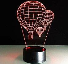 Wangshengchao 7 Farbe Heißluft Ballon Lampe 3D