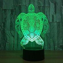 Wangshengchao 7 Farbe Lampe 3D a schildkröte