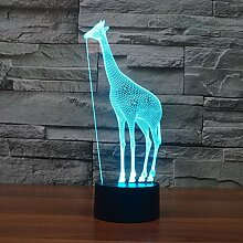 Wangshengchao 7 Farbe Lampe 3D visuelle led