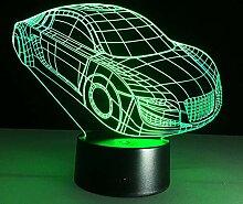Wangshengchao Auto Tischlampe 7 Farben Ändern