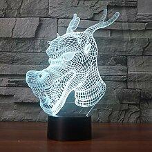 Wangshengchao Drachen 7 Farbe Lampe 3D visuelle