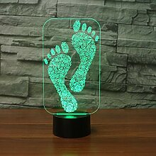 Wangshengchao Farbe des Fußabdrucks 3D Lampe 7