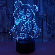 Wangshengchao Farbe des Panda 3D Lampe 7 führte