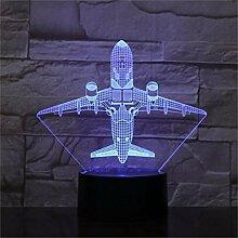 Wangshengchao Flugzeug 7 Farbe Lampe 3D Led