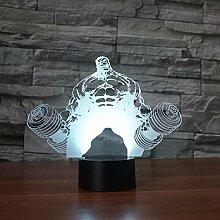 Wangshengchao Gewichtheben Hercules 3D - Lampe 7