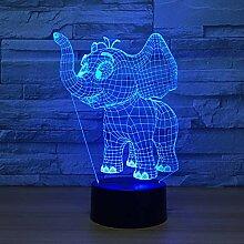Wangshengchao Glückliche Elefanten 7 Farbe Lampe