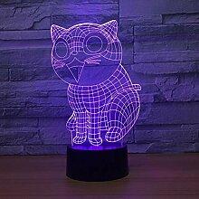 Wangshengchao Nette Lampe der Katze-3D-Lampe 7
