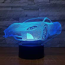 Wangshengchao Rennwagen 3D 7 Farbe Lampe Visuelle