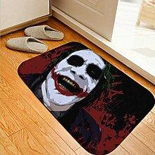 wangtao Joker Grafik Flanell Fußmatten Rund Um