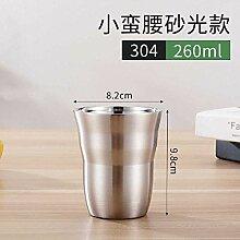 wangwei 304 Edelstahl Doppelmund Tasse Wasser Glas