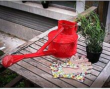 wangxn Meter BewäSserung-Dosen Metall verzinkt Farbe red Foto Farbe